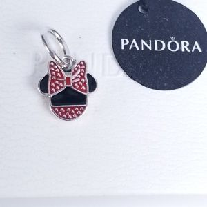 Disney, Minnie Icon Dangle Charm Pandora Silver